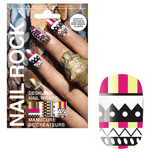 NAIL ROCK ll ネイルロックll デザイナーネイルラップ トライバルゴールド