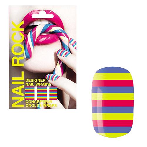 NAIL ROCK ll ネイルロックll デザイナーネイルラップ キャンティストライプ